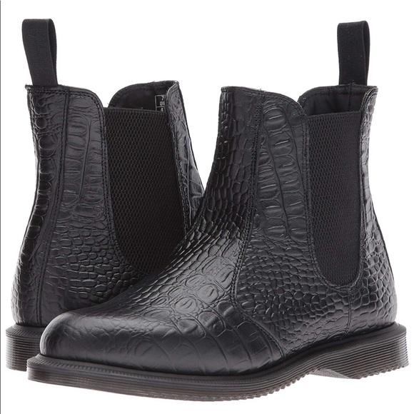 Dr. Martens Flora Croc Chelsea Boot Womens Size 10 Never
